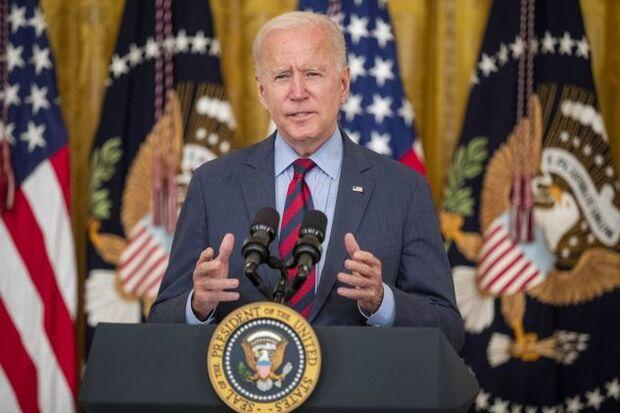 Biden speaks in the East Room of the White House