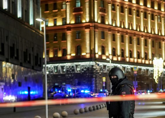 Russia Says Shooter at Moscow Spy Headquarters Was Lone Wolf