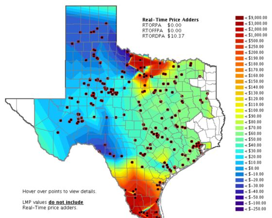 In Sweltering Texas, Power Just Jumped to $2,380 a Megawatt-hour