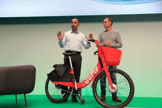 Uber Expands Electric-Bicycle Rentals With European Debut