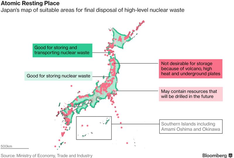Japan Releases Map of Areas Suitable for Nuclear Waste