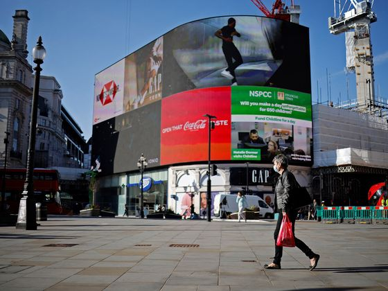 Piccadilly Circus Billboards Point to Brightening London Economy