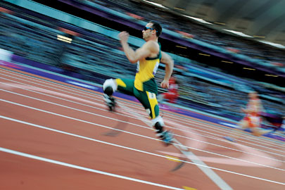 South Africa's Oscar Pistorius won two gold medals