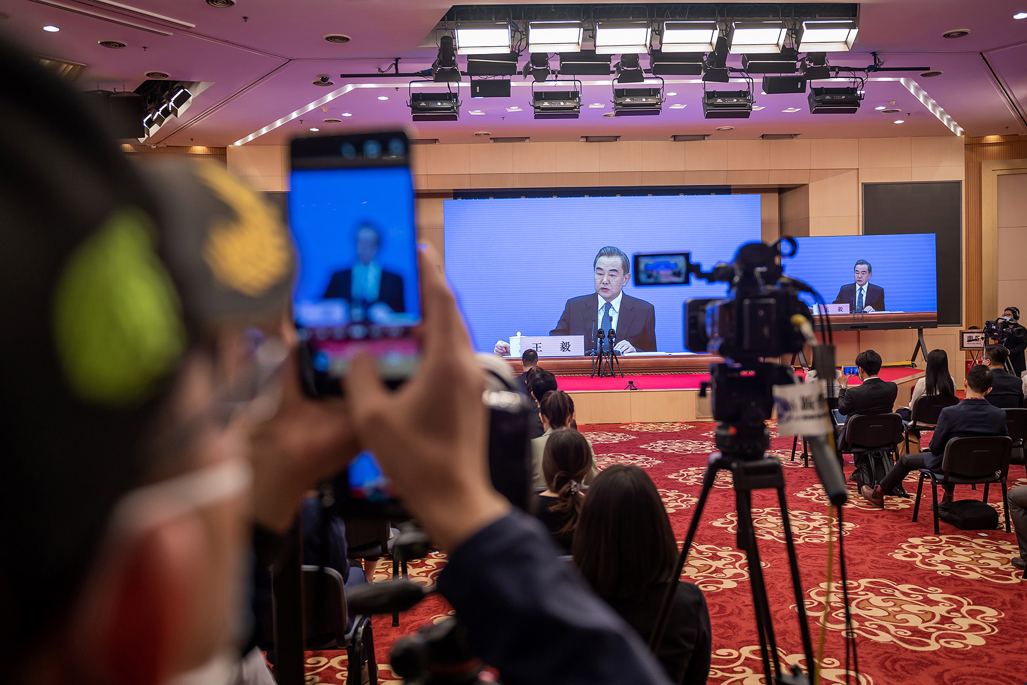 Wang Yi  during the National People's Congress in Beijing on May 24.