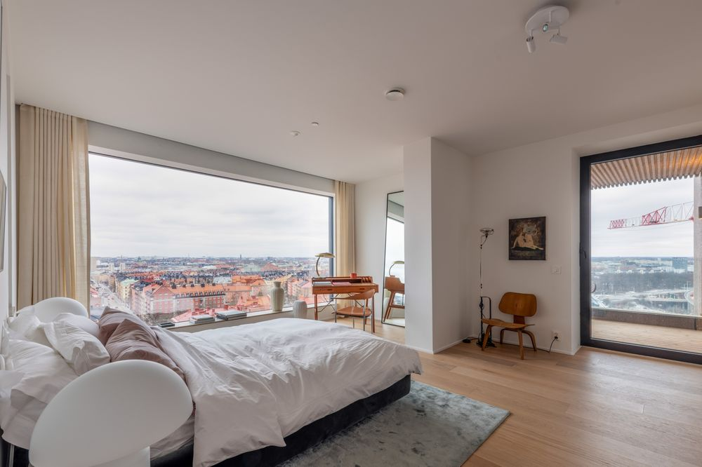 A Master Bedroom In An Apartment The Innovationen Skyser Stockholm
