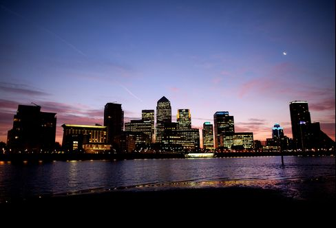 'Bloated' London Banks Shrink in the City