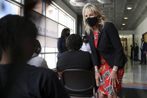 Jill Biden Pitches Shots for Reluctant Arms in Trump Country