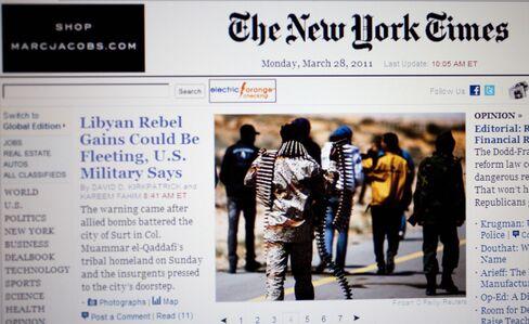 New York Times Revenues Fall