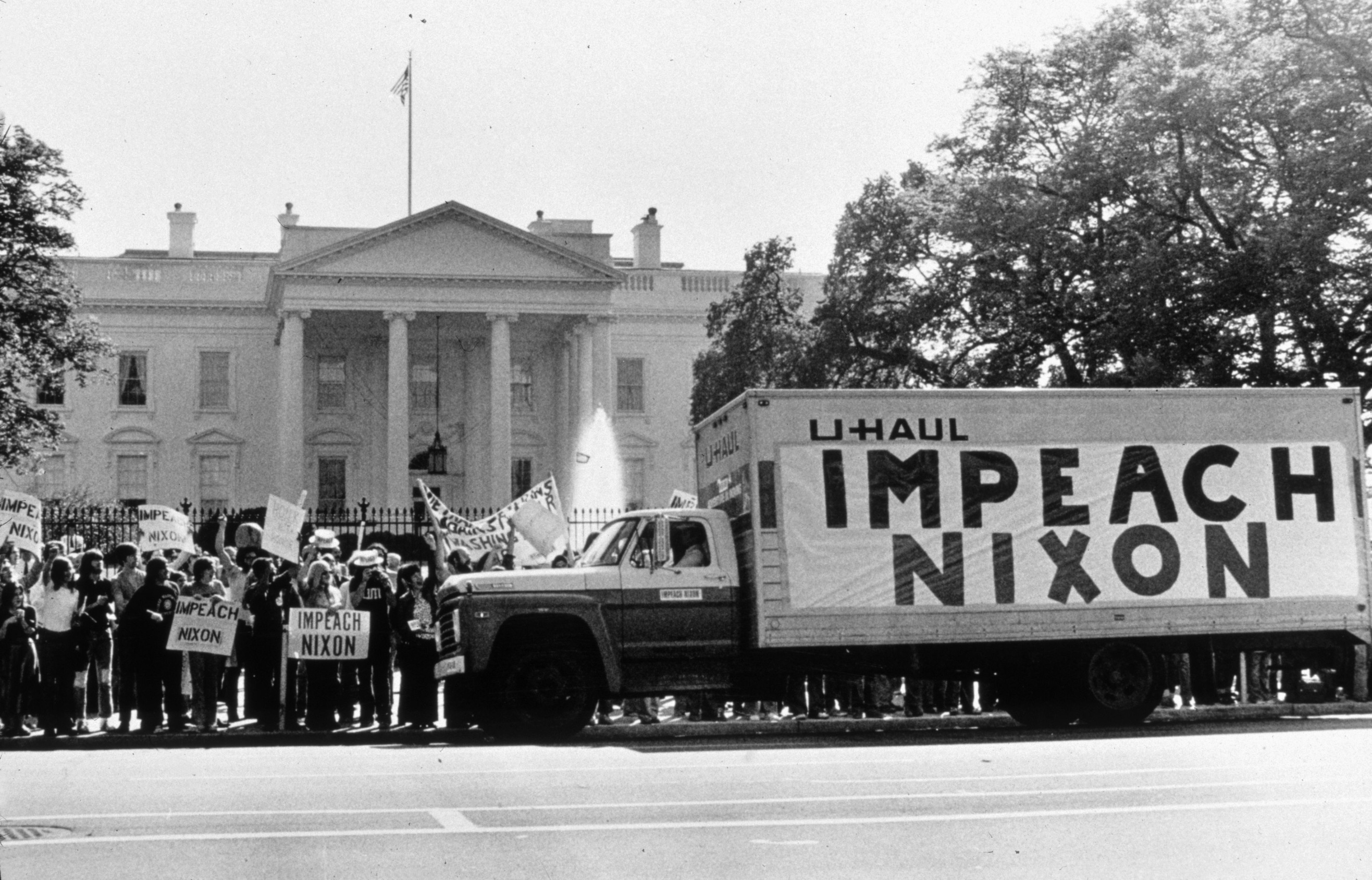 Image result for a house panel votes to impeach president nixon