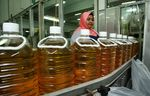 Bottles of processed palm oil