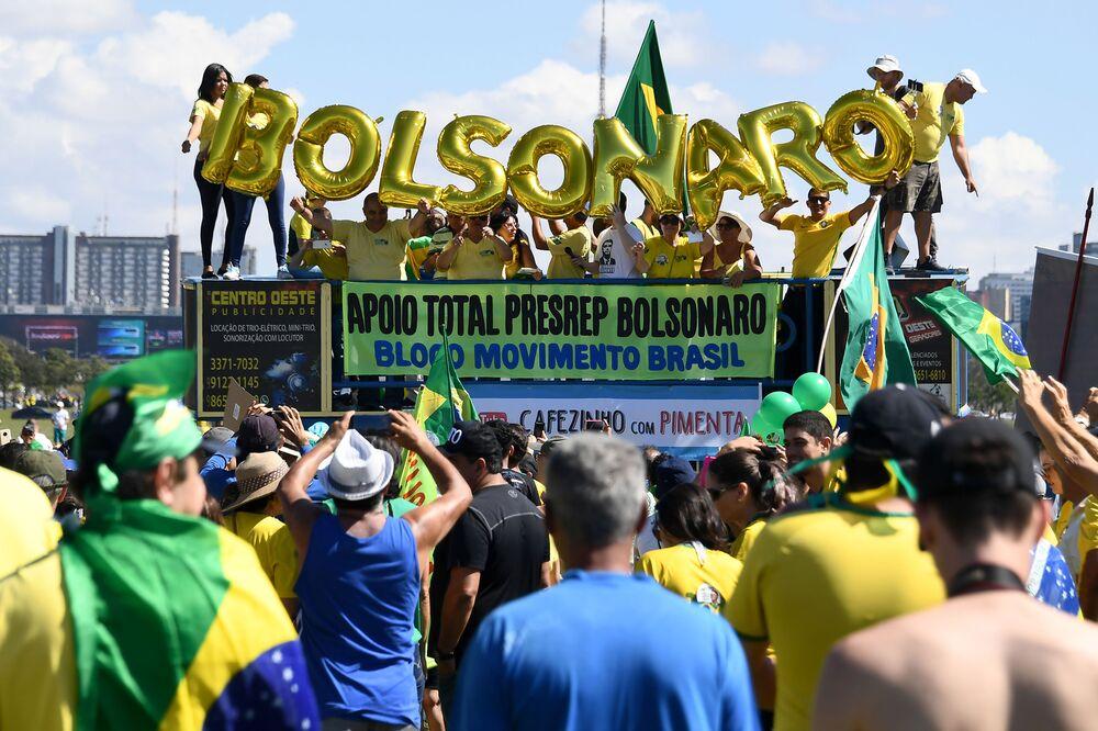 Bolsonaro's Backers Struggle to Stage Rallies Across Brazil