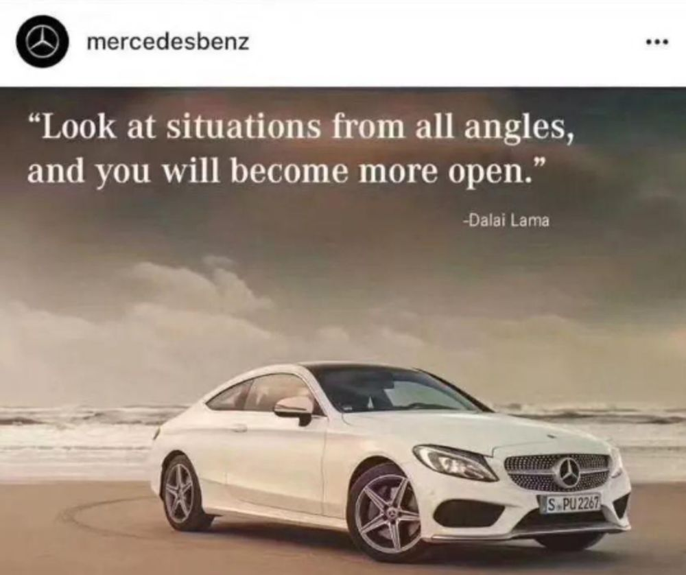Mercedes-Benz apologized to China for posting a Dalai Lama quote Mercedes-Benz apologized to China for posting a Dalai Lama quote new photo