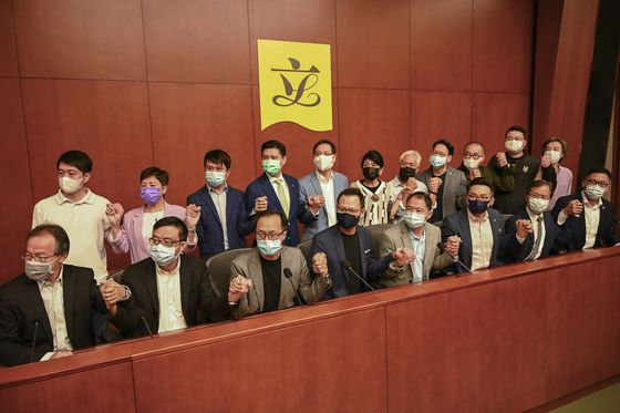 Hong Kong's Opposition to Quit if China Disqualifies Any Members