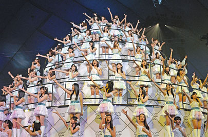 The girl group AKB48 has become a cultural phenomenon, with its own theater and plenty of swag