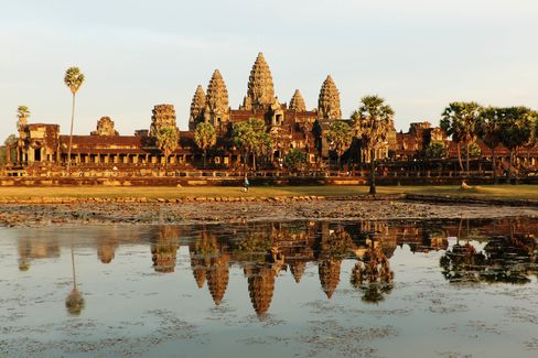 Book dinner at one of Angkor Wat's surrounding temples, and you might get this view all to yourself.