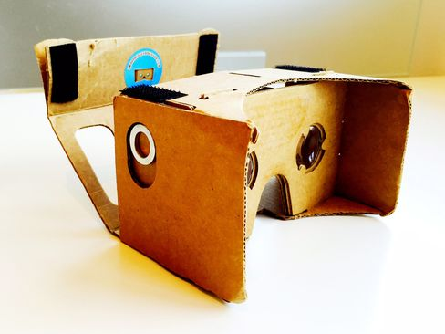 Download free apps via Google Play on your smartphone and insert it into Google's Cardboard headset. You're about to have a 3D experience.