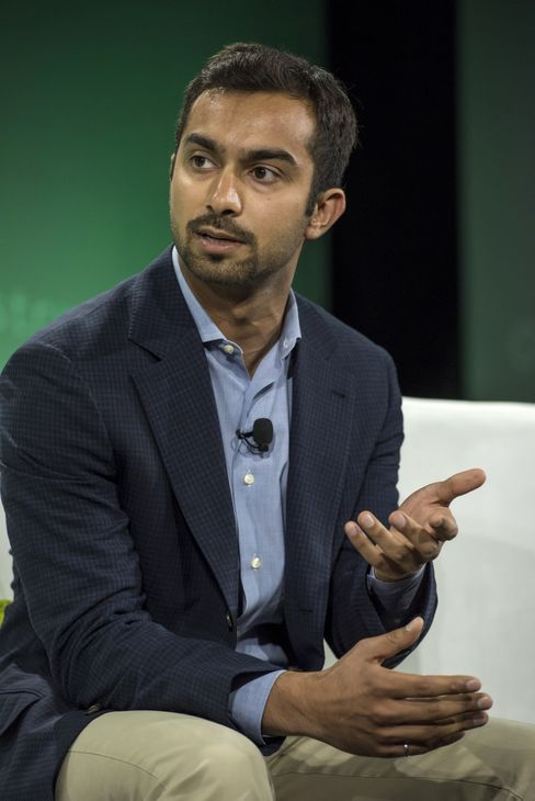 Apoorva Mehta, founder and chief executive officer of Instacart, speaks during the 2015 Bloomberg Technology Conference in San Francisco on June 16, 2015.