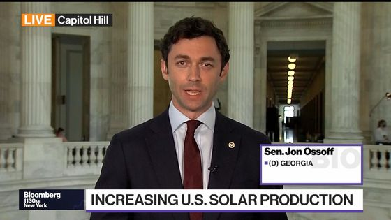 U.S. Must Cut Dependence on Chinese Solar Products, Ossoff Says