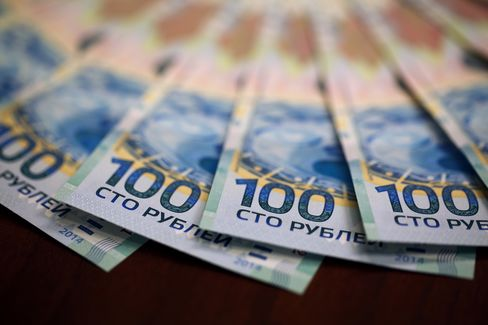 Russian 100 Ruble Denomination Banknotes