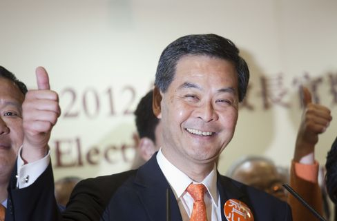 Hong Kong Chief Executive-Elect Leung Chun-ying