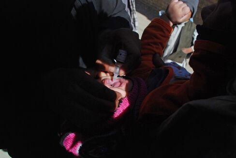 Polio vaccination in Kandahar