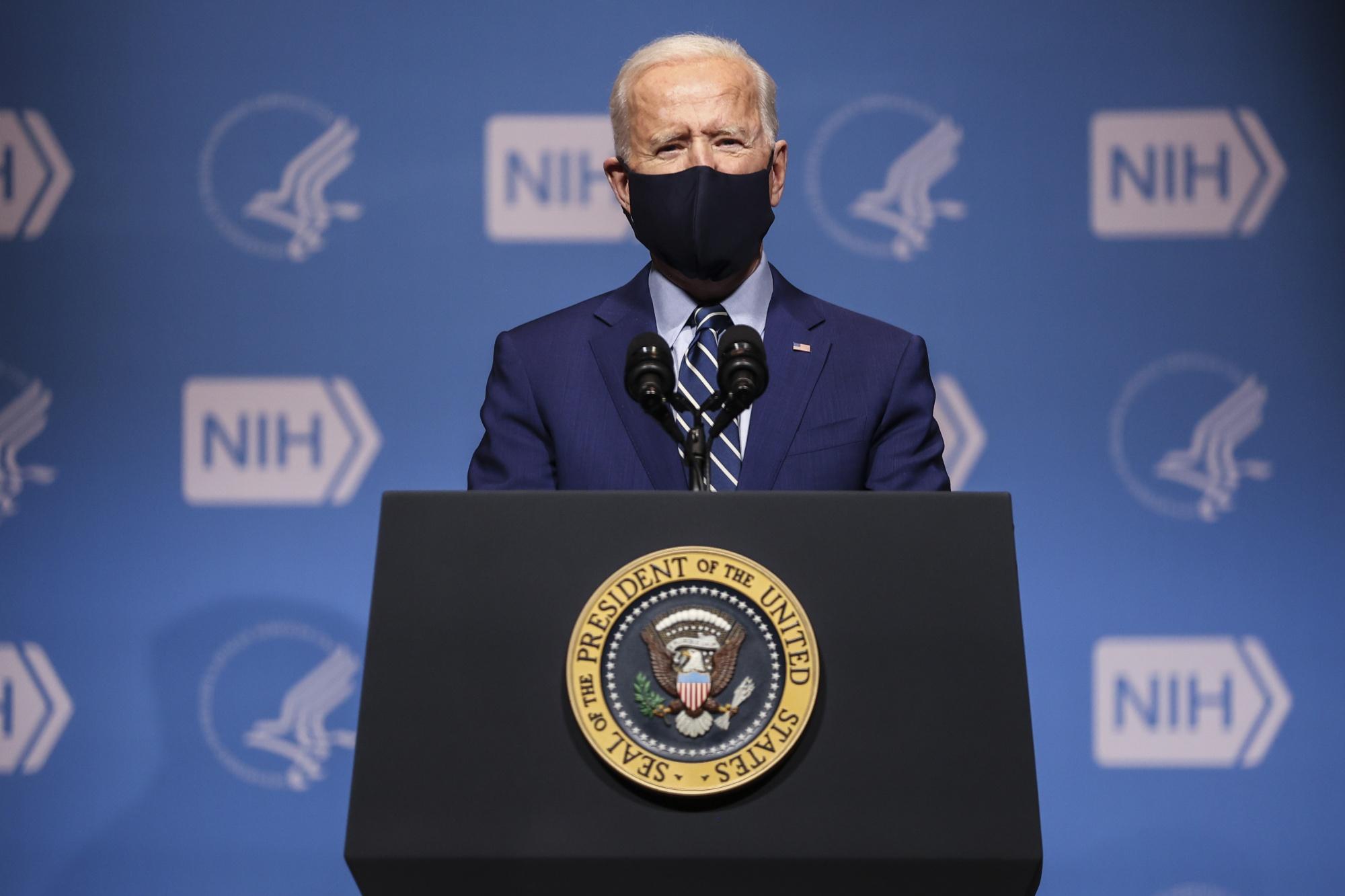Le président Biden visite les instituts nationaux de la santé