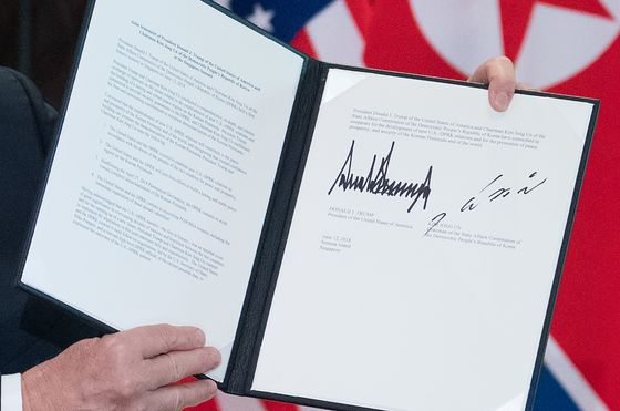 Trump and Kim Signed Something in Singapore. Here's What It Says