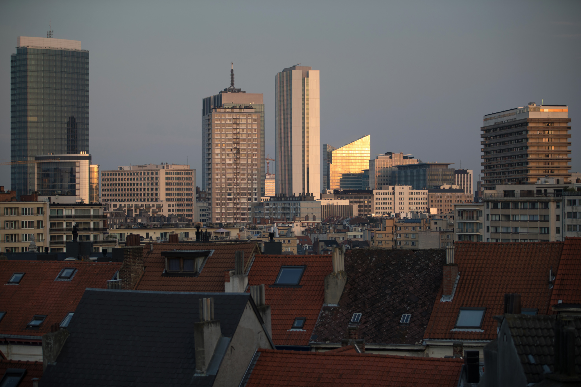 The business district in Brussels, Belgium.