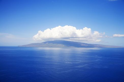 The island of Lanai seen from Maui.
