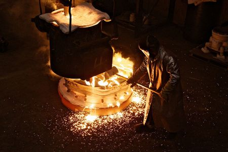 A foundry operator at Precision Castparts in Portland, Oregon on Oct. 27, 2011.