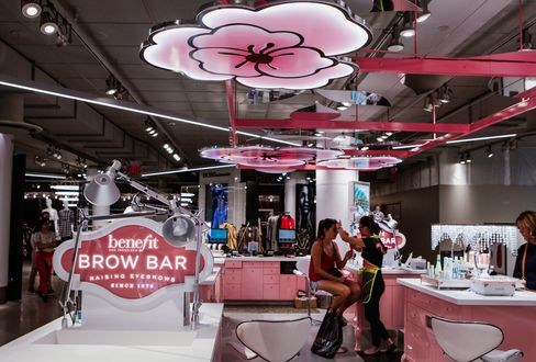 The BrowBar at Macy's new millennial area One Below.