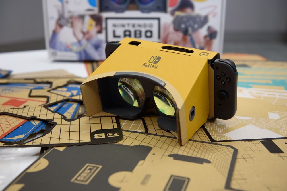 Nintendo Returns to VR With $40 Headset: Labo VR Kit - Bloomberg