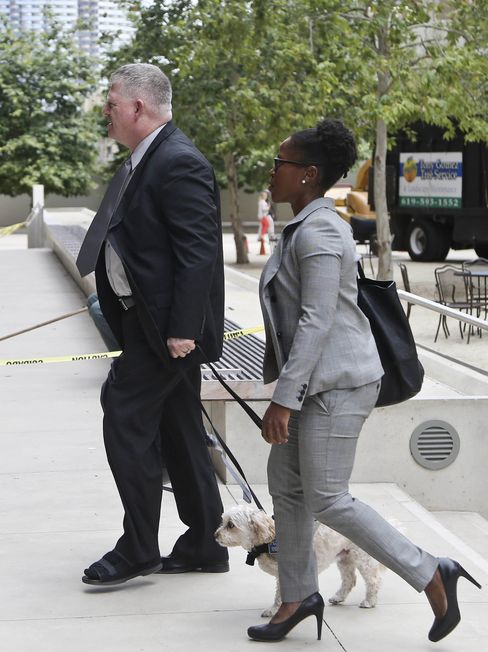 "Rear Admiral Robert J. Gilbeau enters the Federal Courthouse in San Diego where he pleaded guilty to lying to federal investigators in the ""Fat Leonard"" navy bribery trial on June 9."