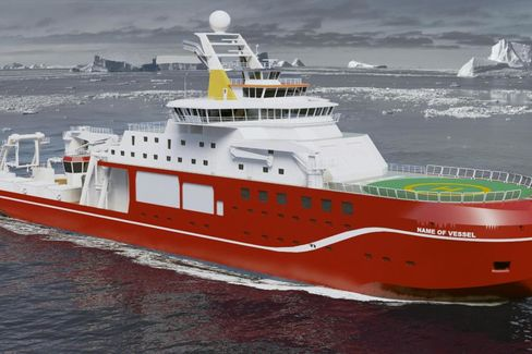 A rendering of the vessel from National Environment Research Council.