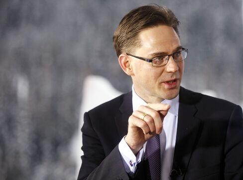 Finland's Prime Minister Jyrki Katainen