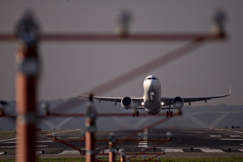 Planes At Reagan National Airport As Coronavirus Cripples Air Travel