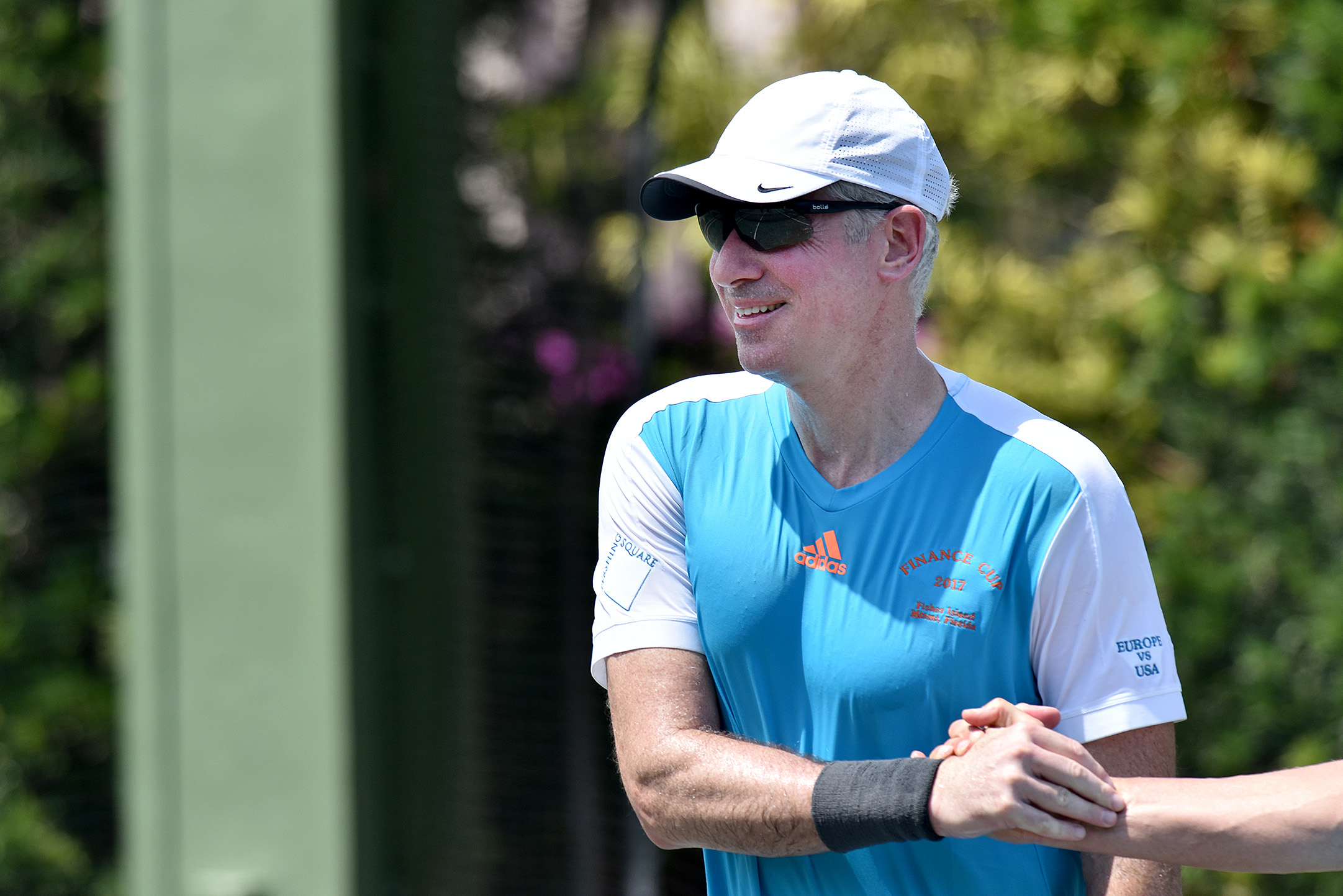 ackman jokes about career falling apart at florida tennis event ackman during the 2017 finance cup