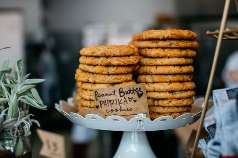 Sister Pie's counter is filled with other goodies, such as these freshly baked peanut butter cookies (spiked with paprika).