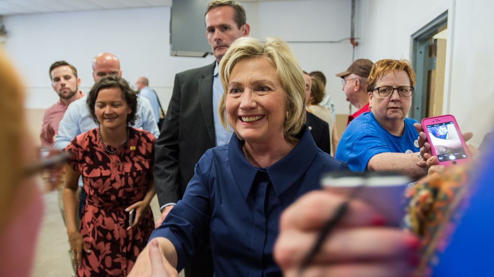 4c1545550f Democratic Presidential hopeful Hillary Clinton takes time to meet  supporters and take photos at the Annual Hawkeye Labor Council AFL-CIO  Labor Day picnic ...