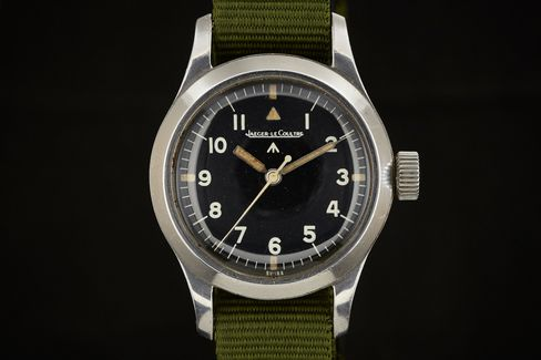 The Mark XI pilot's watch, made by Jaeger-LeCoultre.