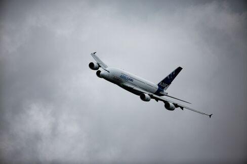 An Airbus SE A380 aircraft at Farnborough.
