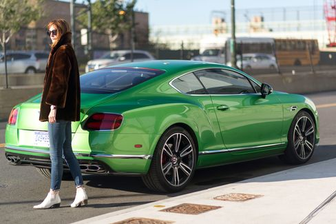 The exterior color is a special (more expensive) paint option called Apple Green.