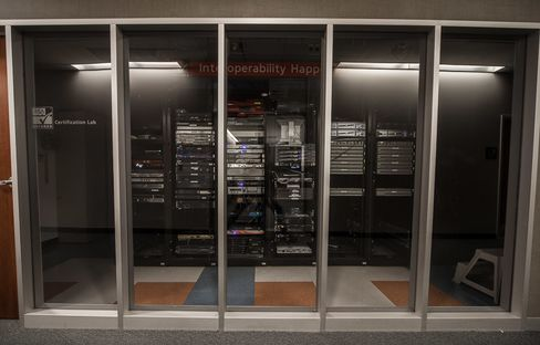 A server room at EMC/RSA