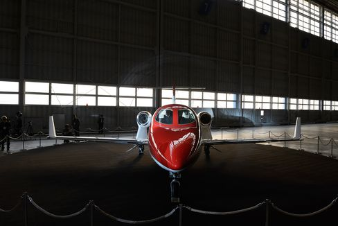 First Honda Aircraft Co. Jet Arrives At Haneda Airport