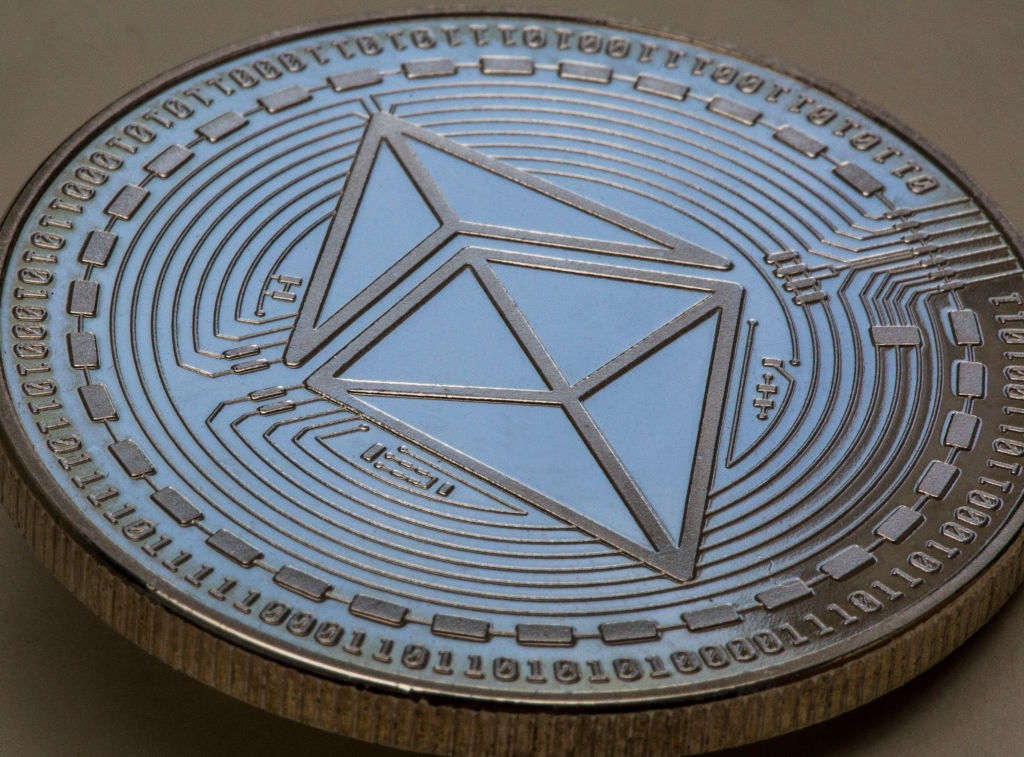 The Ethereum symbol.