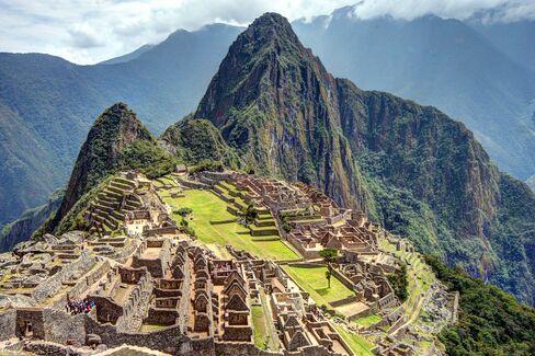 A view of Machu Picchu.