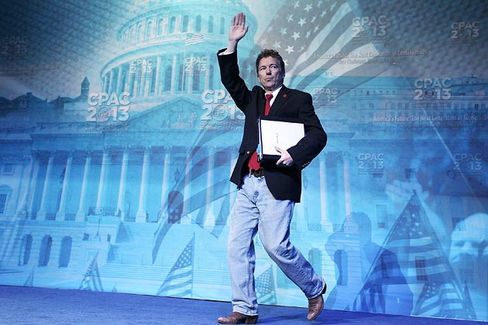 At CPAC, Rand Paul Steps Into Ron Paul's Shoes