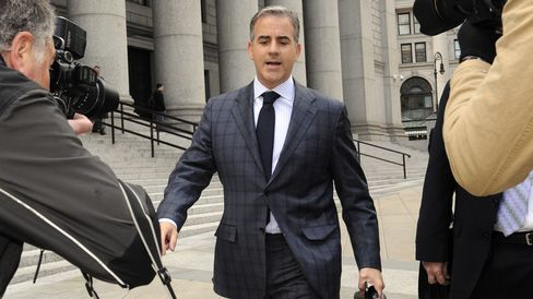 Anthony Chiasson exits federal court following a sentencing hearing in New York, on May 13, 2013.
