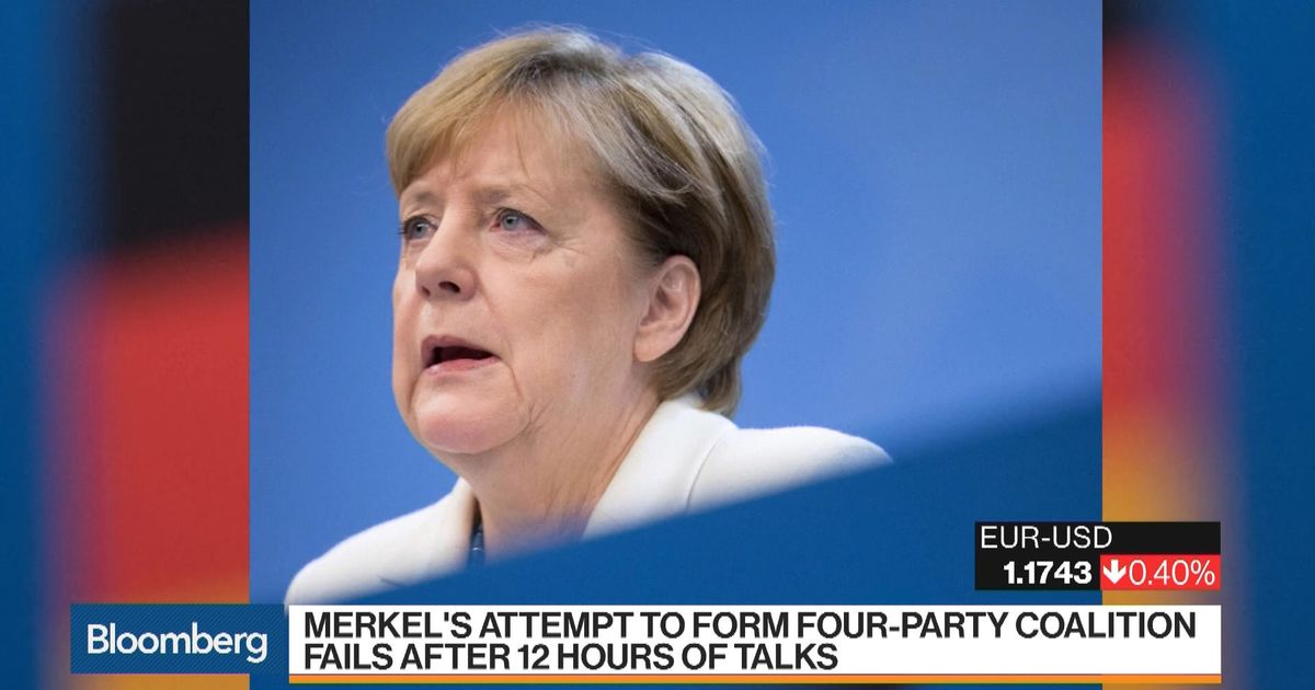 Merkel's Attempt to Form Four-Party Coalition Fails – Bloomberg