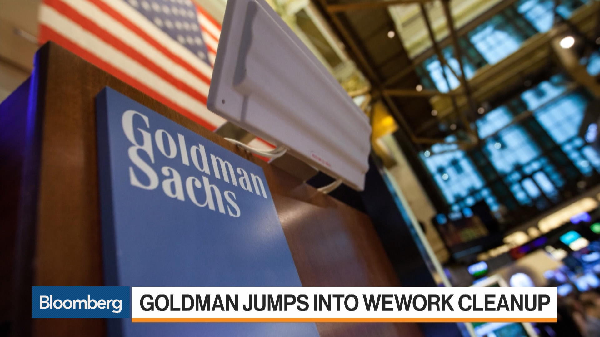 Goldman Sachs to Help SoftBank Save WeWork